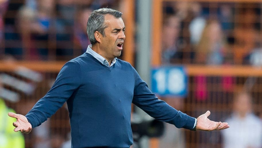 BOCHUM, GERMANY - SEPTEMBER 26: Head coach Robin Dutt of Bochum gestures during the Second Bundesliga match between VfL Bochum 1848 and SG Dynamo Dresden on September 26, 2018 in Bochum, Germany. (Photo by TF-Images/Getty Images)