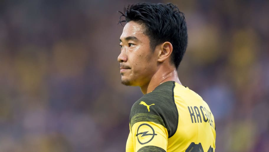 OSNABRÜCK, GERMANY - SEPTEMBER 06: Shinji Kagawa of Borussia Dortmund looks on during the Frendly Match between VfL Osnabrück and Borussia Dortmund at Stadion an der Bremer Brücke on September 6, 2018 in Osnabrück, Germany. (Photo by TF-Images/Getty Images)