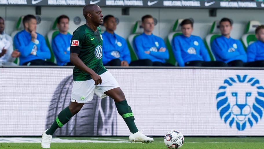 WOLFSBURG, GERMANY - SEPTEMBER 29: Jerome Roussillon of VfL Wolfsburg controls the ball during the Bundesliga match between VfL Wolfsburg and Borussia Moenchengladbach at Volkswagen Arena on September 29, 2018 in Wolfsburg, Germany. (Photo by TF-Images/Getty Images)