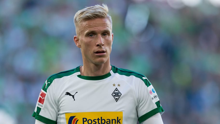 WOLFSBURG, GERMANY - SEPTEMBER 29: Oscar Wendt of Borussia Moenchengladbach looks on during the Bundesliga match between VfL Wolfsburg and Borussia Moenchengladbach at Volkswagen Arena on September 29, 2018 in Wolfsburg, Germany. (Photo by TF-Images/Getty Images)