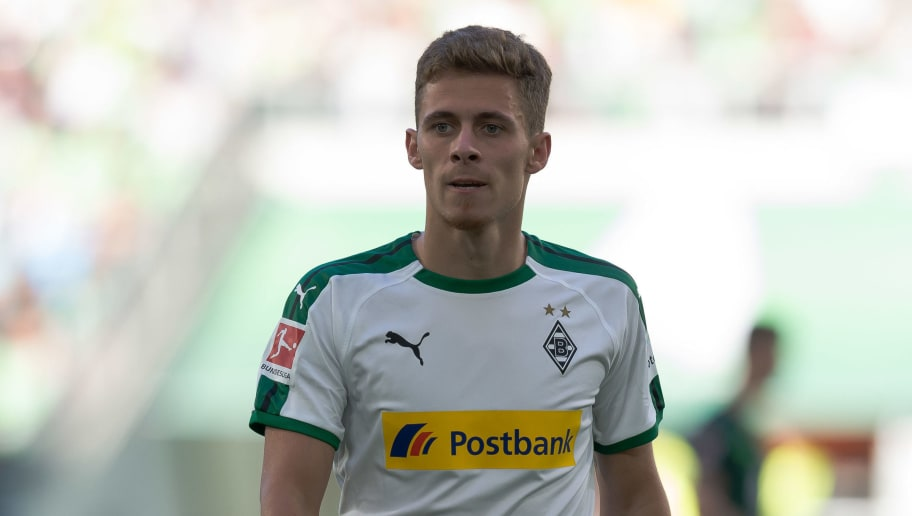 WOLFSBURG, GERMANY - SEPTEMBER 29: Thorgan Hazard of Borussia Moenchengladbach looks on during the Bundesliga match between VfL Wolfsburg and Borussia Moenchengladbach at Volkswagen Arena on September 29, 2018 in Wolfsburg, Germany. (Photo by TF-Images/Getty Images)