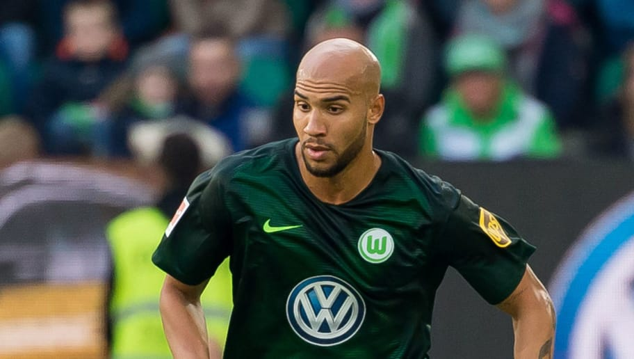 WOLFSBURG, GERMANY - OCTOBER 20: John Anthony Brooks of VfL Wolfsburg controls the ball during the Bundesliga match between VfL Wolfsburg and FC Bayern Muenchen at Volkswagen Arena on October 20, 2018 in Wolfsburg, Germany. (Photo by TF-Images/Getty Images)