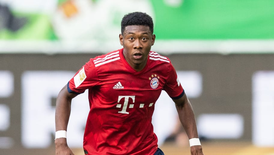 WOLFSBURG, GERMANY - OCTOBER 20: David Alaba of FC Bayern Muenchen runs with the ball during the Bundesliga match between VfL Wolfsburg and FC Bayern Muenchen at Volkswagen Arena on October 20, 2018 in Wolfsburg, Germany. (Photo by Boris Streubel/Getty Images)