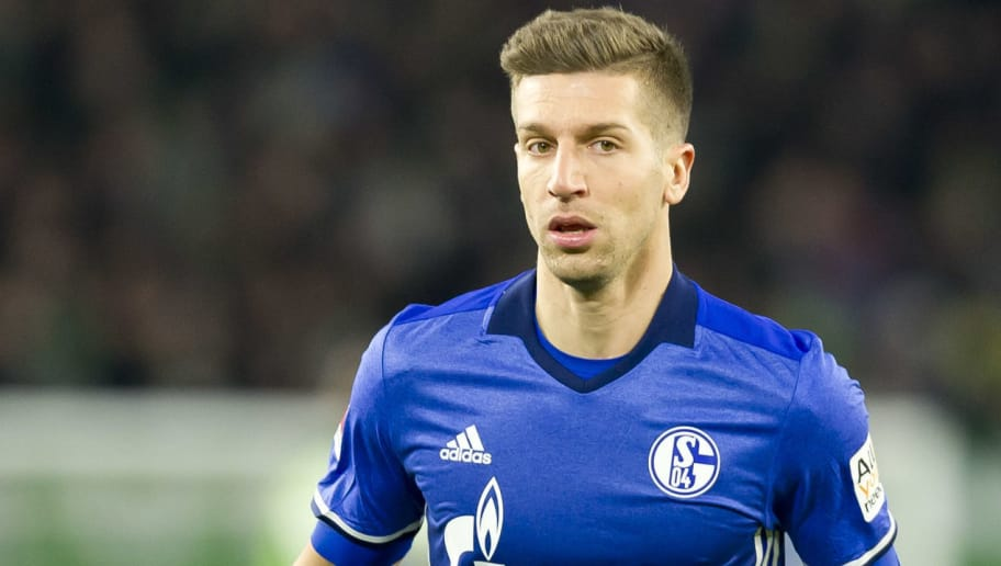 WOLFSBURG, GERMANY - MARCH 17: Matija Nastasic of Schalke looks on during the Bundesliga match between VfL Wolfsburg and FC Schalke 04 at Volkswagen Arena on March 17, 2018 in Wolfsburg, Germany. (Photo by TF-Images/Getty Images)