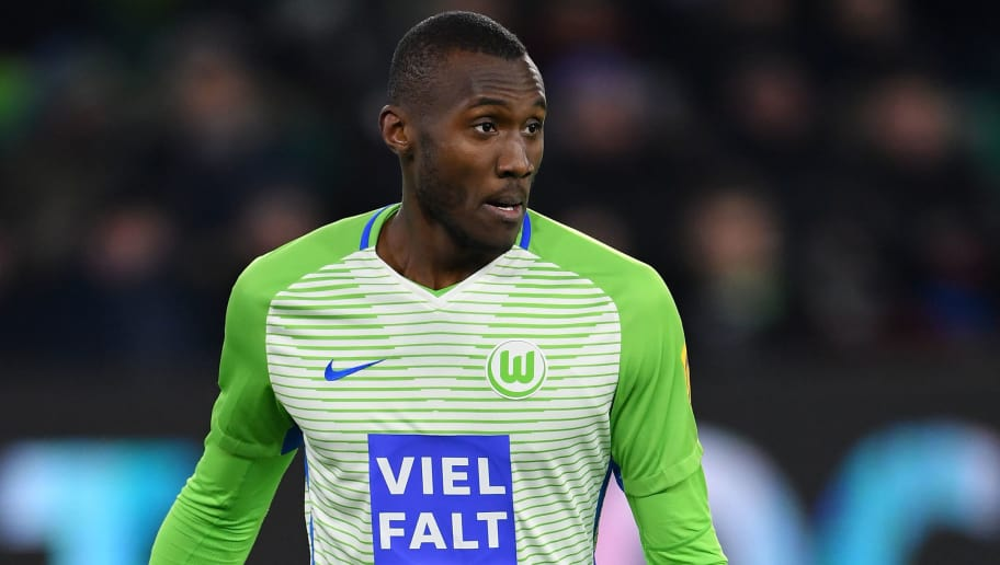 WOLFSBURG, GERMANY - MARCH 17:  Josuha Guilavogui of Wolfsburg in action during the Bundesliga match between VfL Wolfsburg and FC Schalke 04 at Volkswagen Arena on March 17, 2018 in Wolfsburg, Germany.  (Photo by Stuart Franklin/Bongarts/Getty Images)