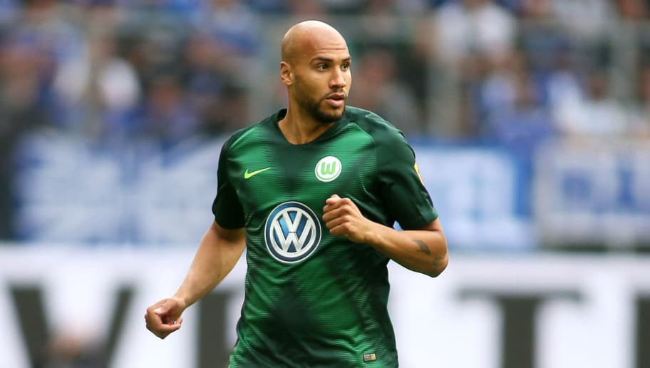 WOLFSBURG, GERMANY - AUGUST 25: John Anthony Brooks of Wolfsburg is seen during the Bundesliga match between VfL Wolfsburg and FC Schalke 04 at Volkswagen Arena on August 25, 2018 in Wolfsburg, Germany. (Photo by Selim Sudheimer/Bongarts/Getty Images)