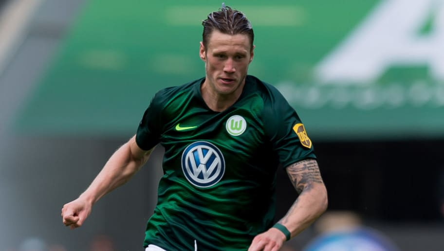 WOLFSBURG, GERMANY - AUGUST 25: Wout Weghorst of Wolfsburg controls the ball during the Bundesliga match between VfL Wolfsburg and FC Schalke 04 at Volkswagen Arena on August 25, 2018 in Wolfsburg, Germany. (Photo by TF-Images/Getty Images)