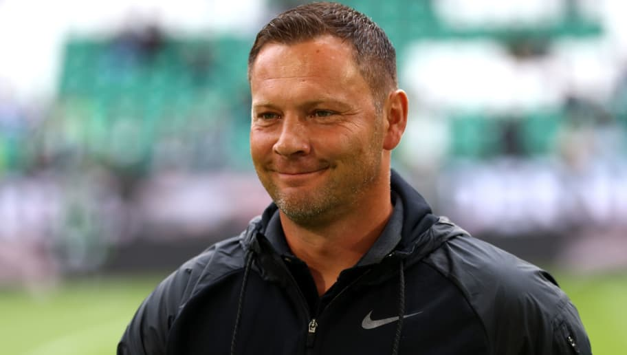 WOLFSBURG, GERMANY - SEPTEMBER 15:  Pal Dardai, Manager of Hertha BSC arrives ahead of during the Bundesliga match between VfL Wolfsburg and Hertha BSC at Volkswagen Arena on September 15, 2018 in Wolfsburg, Germany.  (Photo by Martin Rose/Bongarts/Getty Images)