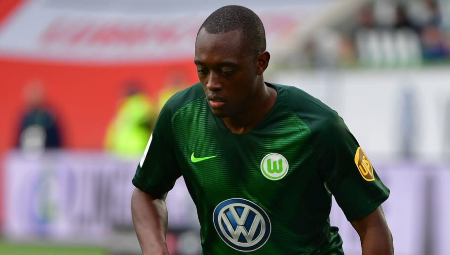 WOLFSBURG, GERMANY - SEPTEMBER 22:  Jerome Roussillon of Wolfsburg in action during the Bundesliga match between VfL Wolfsburg and Sport-Club Freiburg at Volkswagen Arena on September 22, 2018 in Wolfsburg, Germany.  (Photo by Stuart Franklin/Bongarts/Getty Images)