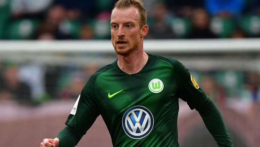 WOLFSBURG, GERMANY - SEPTEMBER 22:  Maximilian Arnold of Wolfsburg in action during the Bundesliga match between VfL Wolfsburg and Sport-Club Freiburg at Volkswagen Arena on September 22, 2018 in Wolfsburg, Germany.  (Photo by Stuart Franklin/Bongarts/Getty Images)