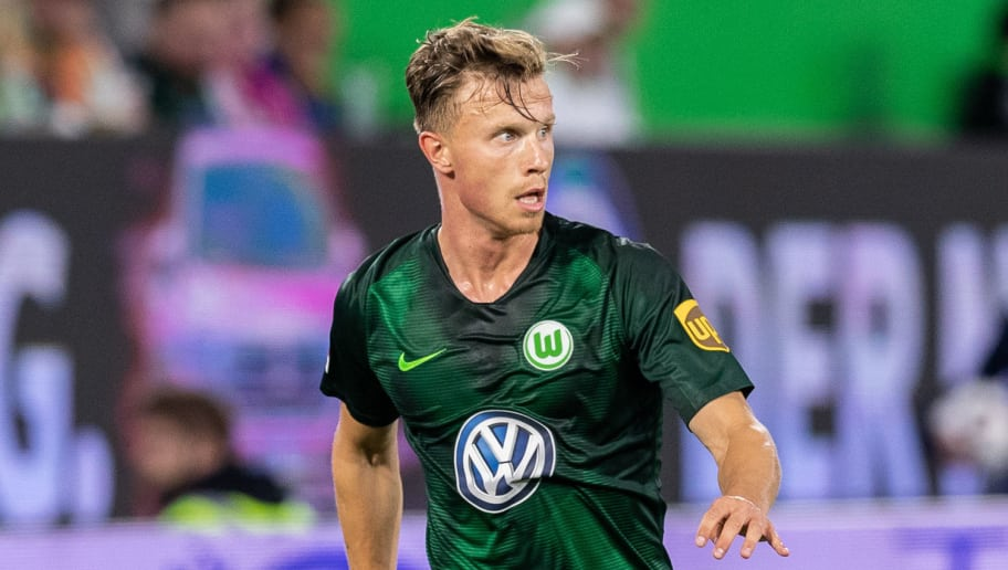 WOLFSBURG, GERMANY - AUGUST 11: Yannick Gerhardt of VfL Wolfsburg runs with the ball during the Pre Season friendly match between VfL Wolfsburg and SSC Napoli at Volkswagen Arena on August 11, 2018 in Wolfsburg, Germany. (Photo by Boris Streubel/Getty Images)