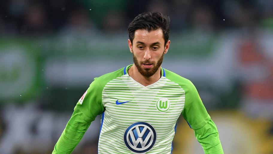 WOLFSBURG, GERMANY - FEBRUARY 03:  Yunus Malli of Wolfsburg in action during the Bundesliga match between VfL Wolfsburg and VfB Stuttgart at Volkswagen Arena on February 3, 2018 in Wolfsburg, Germany.  (Photo by Stuart Franklin/Bongarts/Getty Images)