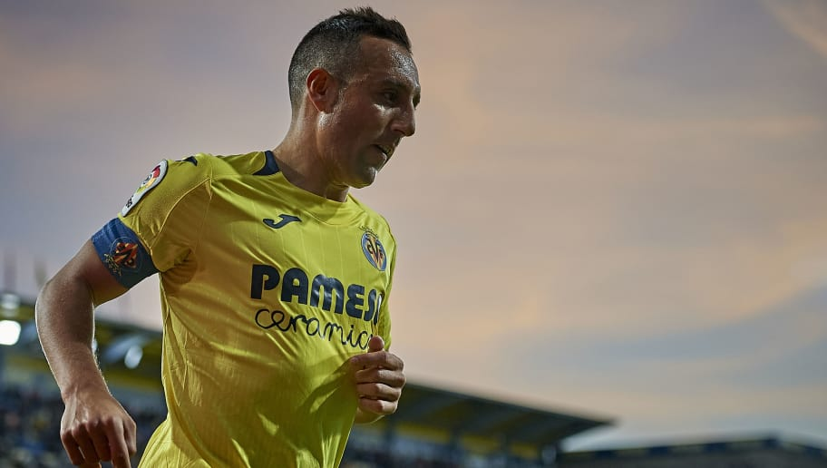 VILLAREAL, SPAIN - NOVEMBER 04:  Santi Cazorla of Villarreal reacts during the La Liga match between Villarreal CF and Levante UD at Estadio de la Ceramica on November 4, 2018 in Villareal, Spain.  (Photo by Quality Sport Images/Getty Images)