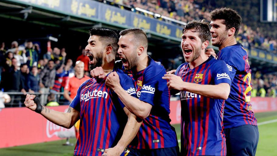 Carles Alena,Jordi Alba,Luis Suarez,Sergi Roberto
