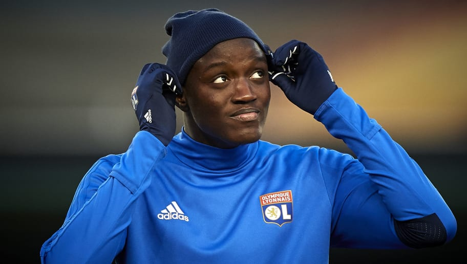 VILLAREAL, SPAIN - FEBRUARY 22:  Mouctar Diakhaby of Olympique Lyon looks on prior the UEFA Europa League Round of 32 match between Villarreal and Olympique Lyon at the Estadio de la Ceramica on February 22, 2018 in Villareal, Spain.  (Photo by Quality Sport Images/Getty Images)