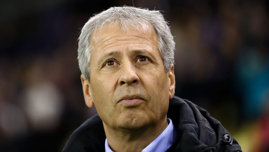 ARNHEM, NETHERLANDS - DECEMBER 07:  OGC Nice Manager  Lucien Favre looks on ahead of the UEFA Europa League group K match between Vitesse and OGC Nice on December 7, 2017 in Arnhem, Netherlands.  (Photo by Dean Mouhtaropoulos/Getty Images)