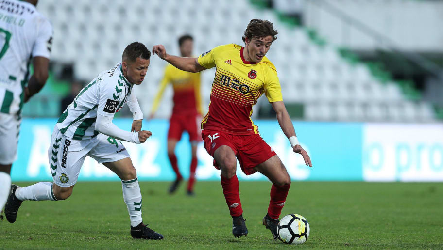 SETUBAL, PORTUGAL - MARCH 03: Rio Ave FC midfielder Francisco Geraldes from Portugal during the Primeira Liga match between Vitoria Setubal FC and Rio Ave FC at Estadio do Bonfim on March 3, 2018 in Setubal, Setubal. (Photo by Carlos Rodrigues/Getty Images)