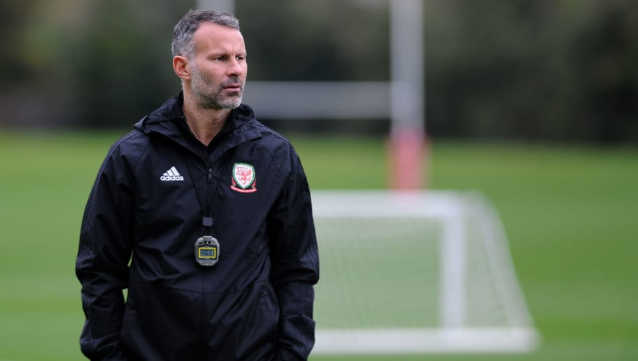 CARDIFF, WALES -  OCTOBER 8: Ryan Giggs manager of Wales during the Wales Training Session at The Vale Resort on October 8, 2018 in Cardiff, Wales. (Photo by Athena Pictures/Getty Images)