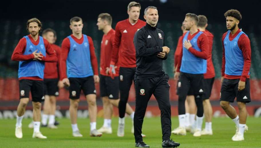 CARDIFF, WALES - OCTOBER 10: Ryan Giggs Manager of Wales during the Wales Training Session at The Principality Stadium on October 10, 2018 in Cardiff, Wales. (Photo by Athena Pictures/Getty Images)