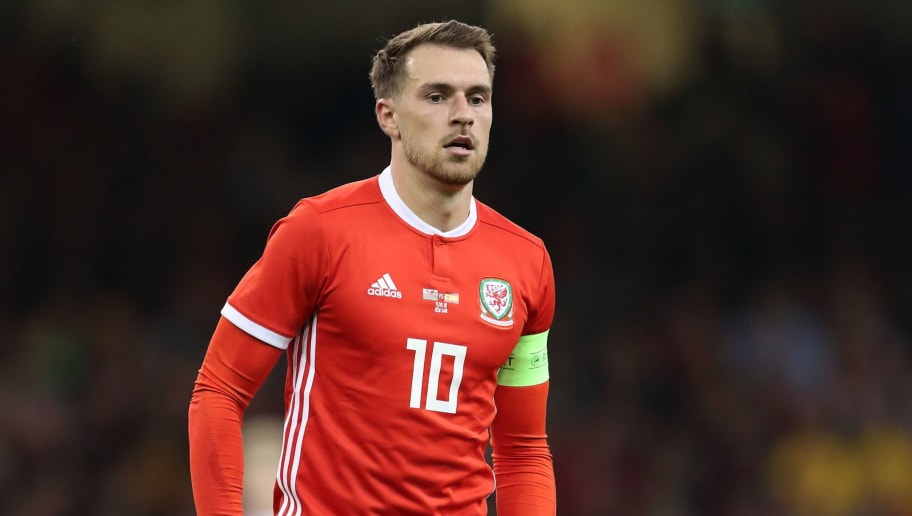 CARDIFF, WALES - OCTOBER 11: Aaron Ramsey of Wales during the International Friendly match between Wales and Spain on October 11, 2018 in Cardiff, United Kingdom. (Photo by James Williamson - AMA/Getty Images)