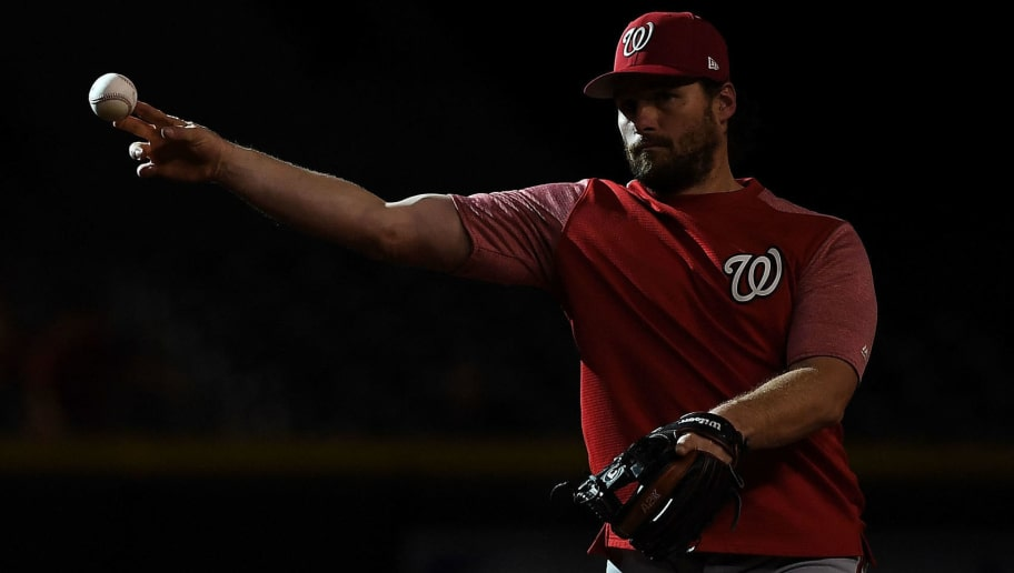PHOENIX, AZ - MAY 11:  Daniel Murphy #20 of the Washington Nationals throws the ball prior to the MLB game against the Arizona Diamondbacks at Chase Field on May 11, 2018 in Phoenix, Arizona. The Washington Nationals won 3-1.  (Photo by Jennifer Stewart/Getty Images)