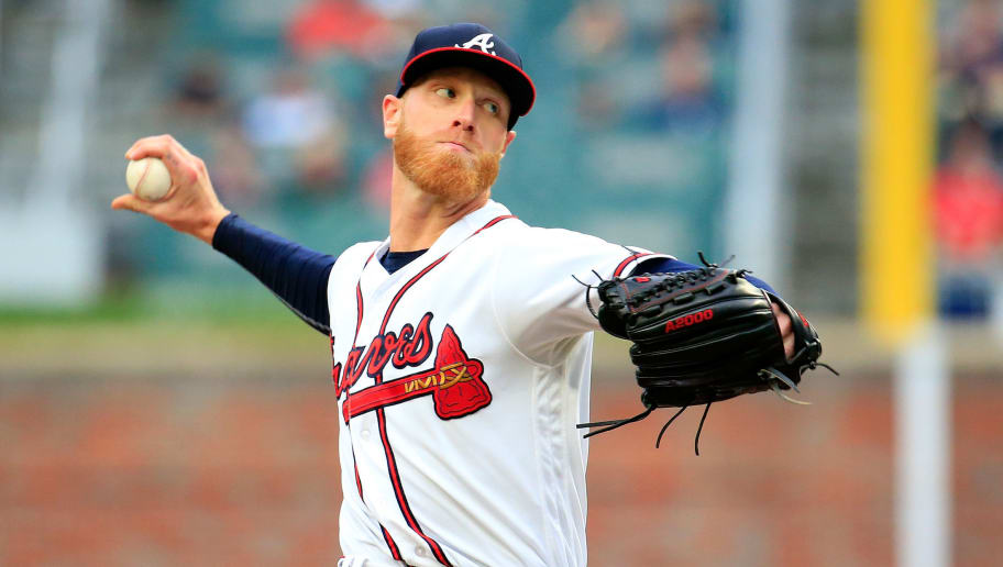 ATLANTA, GA - JUNE 01: Mike Foltynewicz #26 of the Atlanta Braves pitches during the first inning against the Washington Nationals at SunTrust Park on June 1, 2018 in Atlanta, Georgia. (Photo by Daniel Shirey/Getty Images)