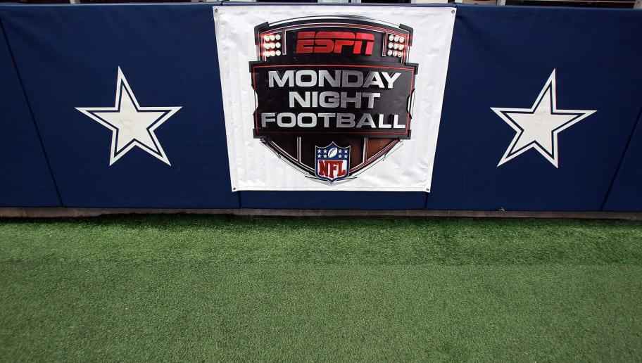 ARLINGTON, TX - SEPTEMBER 26:  An ESPN Monday Night Football sign at Cowboys Stadium on September 26, 2011 in Arlington, Texas.  (Photo by Ronald Martinez/Getty Images)