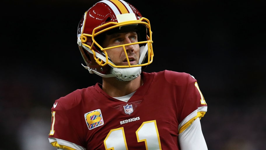 NEW ORLEANS, LA - OCTOBER 08:  Alex Smith #11 of the Washington Redskins warms up before a game against the New Orleans Saints at Mercedes-Benz Superdome on October 8, 2018 in New Orleans, Louisiana.  (Photo by Sean Gardner/Getty Images)