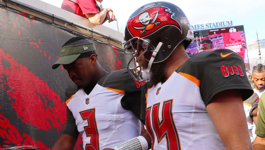 half off 6ca10 383d4 Bucs Bench Ryan Fitzpatrick for Jameis Winston Amidst ...