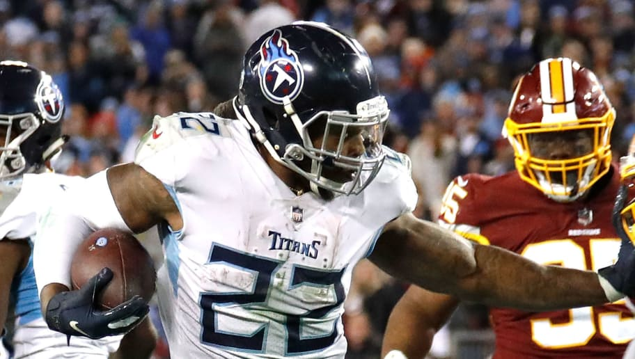 0af81eeacfa NASHVILLE, TN - DECEMBER 22: Derrick Henry #22 of the Tennessee Titans  rushes