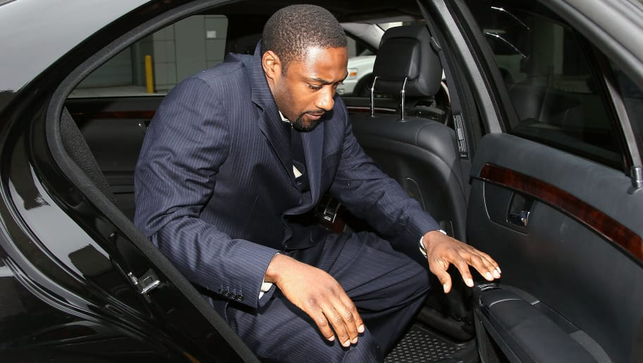 WASHINGTON - MARCH 26: NBA player Gilbert Arenas of the Washington Wizards arrives at District of Columbia Court March 26, 2010 in Washington, DC. The Wizards star will receive his sentence today for bringing guns into the locker room.  (Photo by Mark Wilson/Getty Images)
