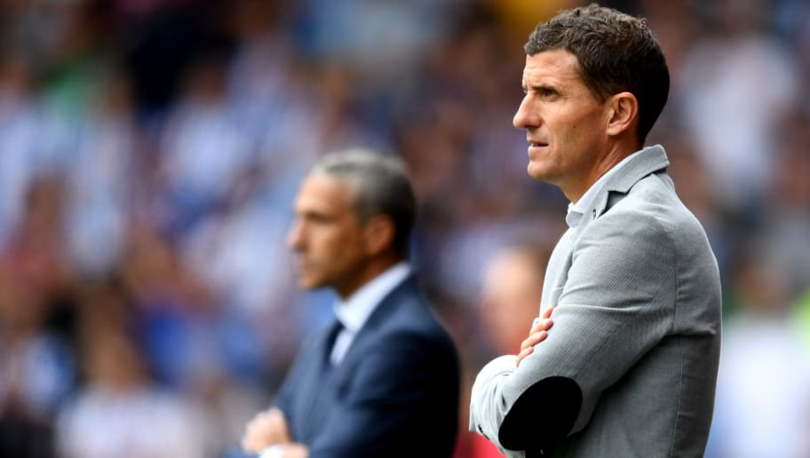WATFORD, ENGLAND - AUGUST 11:  Javi Gracia, Manager of Watford looks on during the Premier League match between Watford FC and Brighton & Hove Albion at Vicarage Road on August 11, 2018 in Watford, United Kingdom.  (Photo by Michael Regan/Getty Images)