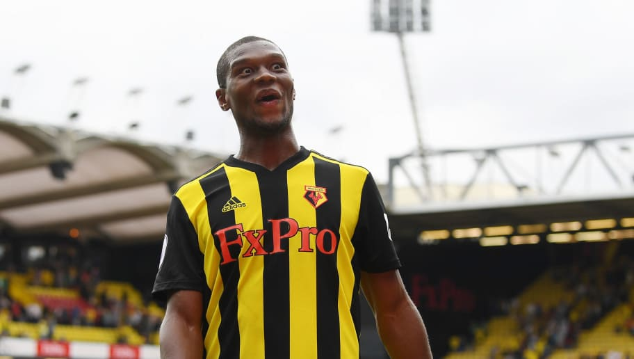 WATFORD, ENGLAND - AUGUST 11:  Christian Kabasele of Watford looks on after the Premier League match between Watford FC and Brighton & Hove Albion at Vicarage Road on August 11, 2018 in Watford, United Kingdom.  (Photo by Michael Regan/Getty Images)