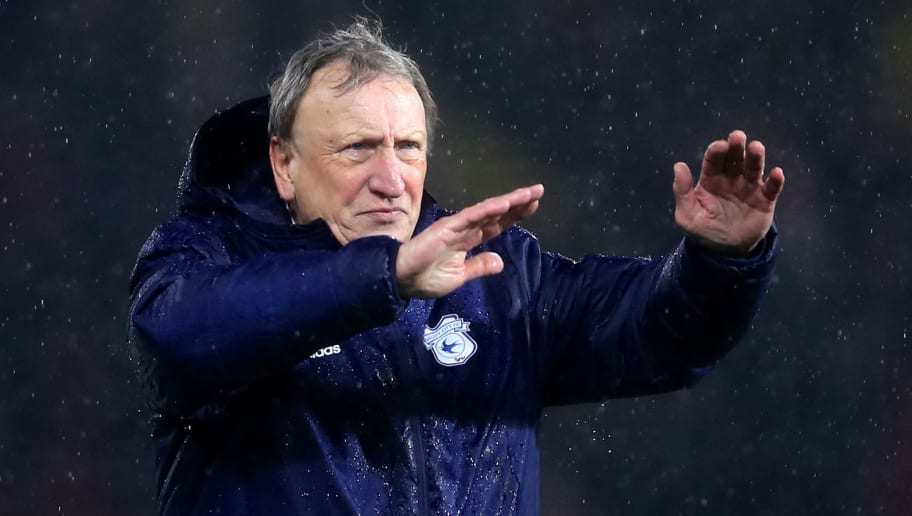 WATFORD, ENGLAND - DECEMBER 15: Neil Warnock, Manager of Cardiff City acknowledges the fans after the Premier League match between Watford FC and Cardiff City at Vicarage Road on December 15, 2018 in Watford, United Kingdom.  (Photo by Marc Atkins/Getty Images)