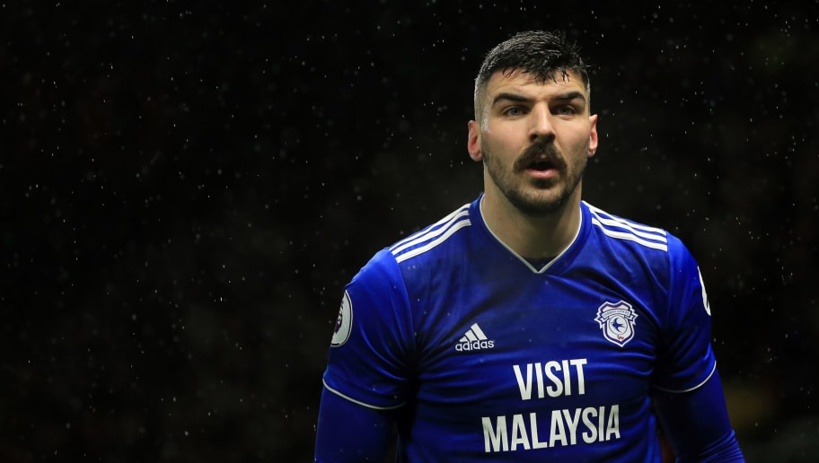 WATFORD, ENGLAND - DECEMBER 15: Callum Paterson of Cardiff City during the Premier League match between Watford FC and Cardiff City at Vicarage Road on December 15, 2018 in Watford, United Kingdom. (Photo by Marc Atkins/Getty Images)