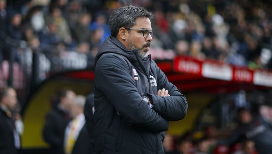 WATFORD, ENGLAND - OCTOBER 27: David Wagner the head coach of Huddersfield Town during the Premier League match between Watford FC and Huddersfield Town at Vicarage Road on October 27, 2018 in Watford, United Kingdom. (Photo by John Early/Getty Images)