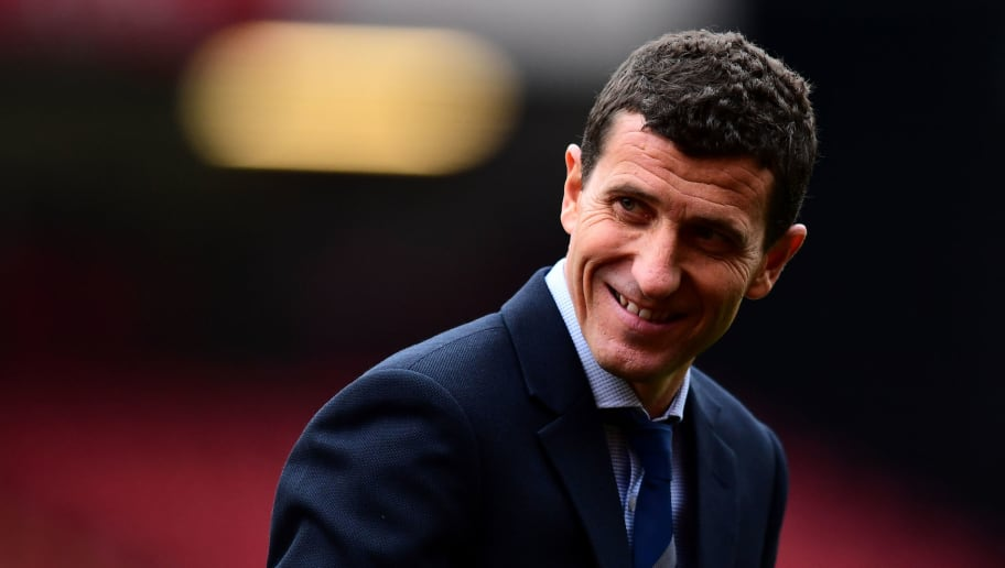 WATFORD, ENGLAND - NOVEMBER 24:  Javi Gracia, Manager of Watford looks on prior to the Premier League match between Watford FC and Liverpool FC at Vicarage Road on November 24, 2018 in Watford, United Kingdom.  (Photo by Alex Broadway/Getty Images)