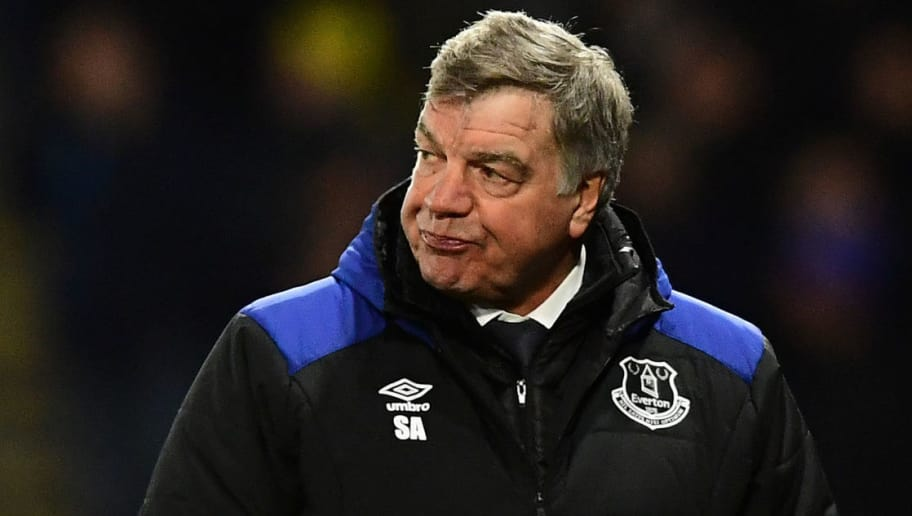 WATFORD, ENGLAND - FEBRUARY 24:  Sam Allardyce, Manager of Everton looks dejected during the Premier League match between Watford and Everton at Vicarage Road on February 24, 2018 in Watford, England.  (Photo by Alex Broadway/Getty Images)