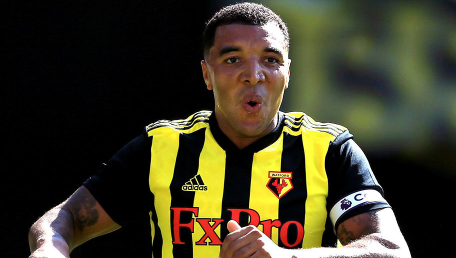 WATFORD, ENGLAND - AUGUST 04:  Troy Deeney of Watford after scoring the equalising goal during the pre-season friendly match between Watford and Sampdoria at Vicarage Road on August 4, 2018 in Watford, England. (Photo by Stephen Pond/Getty Images)
