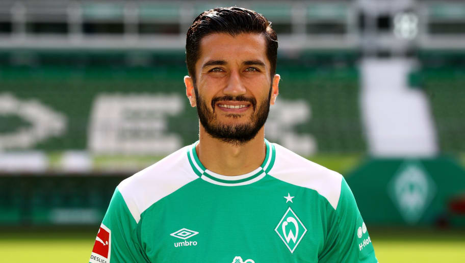 BREMEN, GERMANY - SEPTEMBER 13:  Nuri Sahin of Werder Bremen poses during the team presentation at Weser Stadion on September 13, 2018 in Bremen, Germany.  (Photo by Martin Rose/Bongarts/Getty Images)