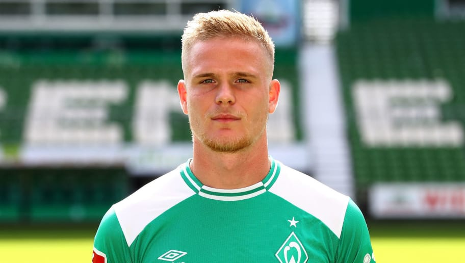 BREMEN, GERMANY - SEPTEMBER 13:  Thore Jacobsen of Werder Bremen poses during the team presentation at Weser Stadion on September 13, 2018 in Bremen, Germany.  (Photo by Martin Rose/Bongarts/Getty Images)