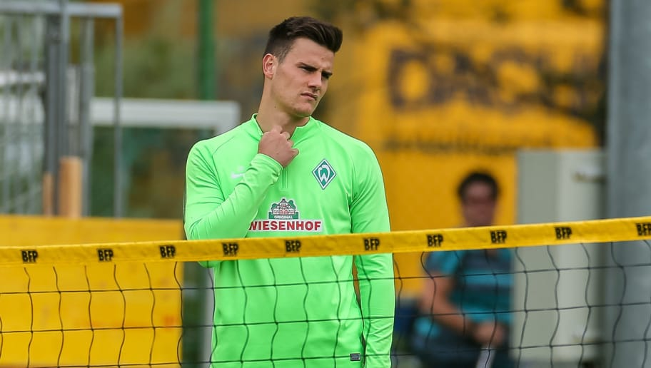 ZELL AM ZILLER, AUSTRIA - JULY 13: Goalkeeper Michael Zetterer of Werder Bremen looks om during the Training Camp of SV Werder Bremen on July 13, 2017 in Zell am Ziller, Austria. (Photo by TF-Images/TF-Images via Getty Images)