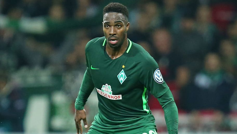 BREMEN, GERMANY - OCTOBER 25: Ulisses Garcia of Bremen controls the ball during the DFB Cup match between Werder Bremen and 1899 Hoffenheim at Weserstadion on October 25, 2017 in Bremen, Germany.