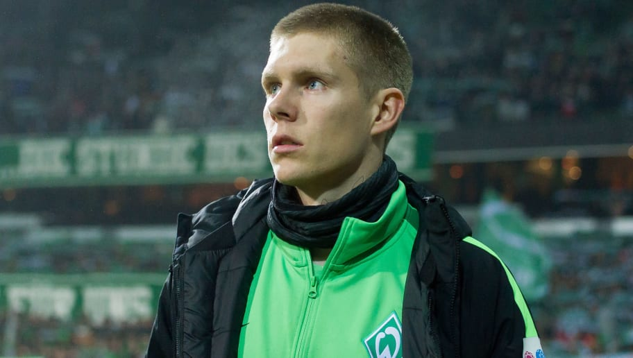 BREMEN, GERMANY - DECEMBER 20: Aron Johannsson of Bremen looks on during the DFB Cup match between Werder Bremen and SC Freiburg at Weserstadion on December 20, 2017 in Bremen, Germany. (Photo by TF-Images/TF-Images via Getty Images)