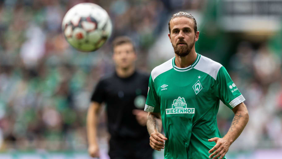 BREMEN, GERMANY - AUGUST 11: Martin Harnik of Werder Bremen controls the ball during the Pre Season Friendly Match between Werder Bremen and FC Villareal at Weserstadion on August 11, 2018 in Bremen, Germany. (Photo by Boris Streubel/Getty Images)