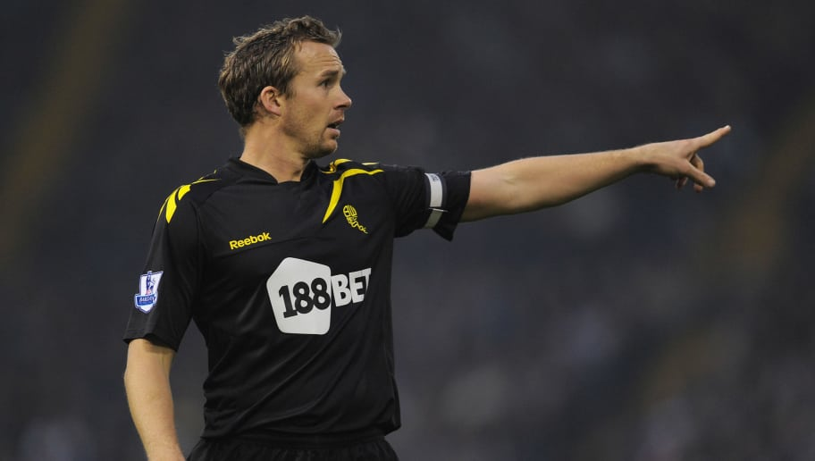 WEST BROMWICH, ENGLAND - NOVEMBER 19: Kevin Davies of Bolton gestures during the Barclays Premier League match between West Bromwich Albion and Bolton Wanderer at The Hawthorns on November 19, 2011 in West Bromwich, England.  (Photo by Michael Regan/Getty Images)