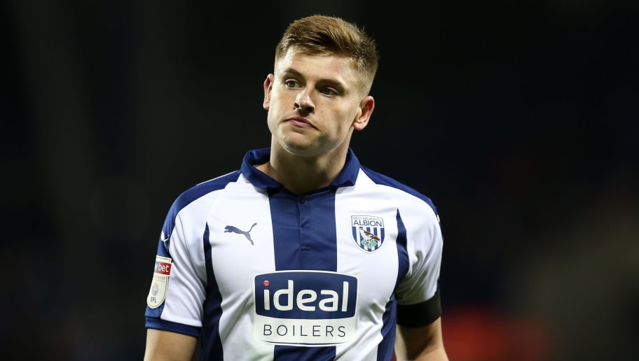 WEST BROMWICH, ENGLAND - OCTOBER 24: Harvey Barnes of West Bromwich Albion during the Sky Bet Championship match between West Bromwich Albion and Derby County at The Hawthorns on October 24, 2018 in West Bromwich, England. (Photo by James Baylis - AMA/Getty Images)
