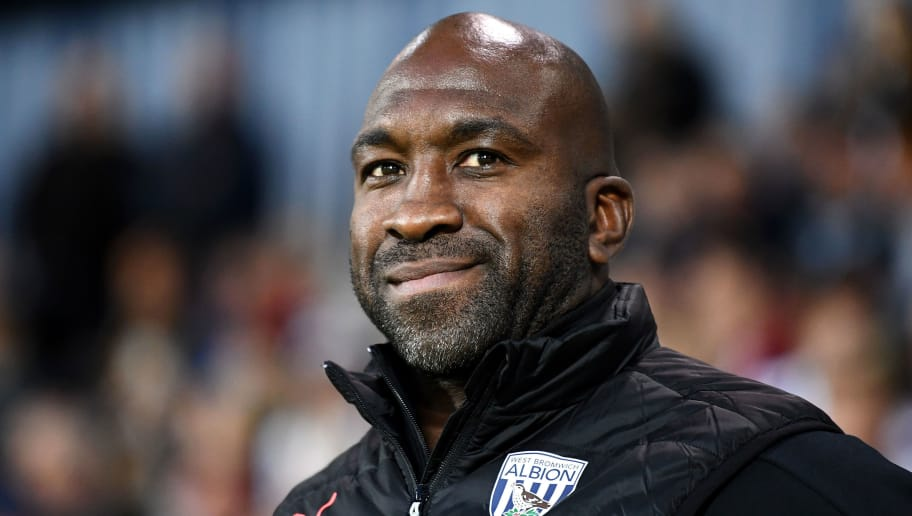 WEST BROMWICH, ENGLAND - AUGUST 28:  Darren Moore, Manager of West Bromwich Albion looks on prior to the Carabao Cup Second Round match between West Bromwich Albion and Mansfield Town at The Hawthorns on August 28, 2018 in West Bromwich, England.  (Photo by Clive Mason/Getty Images)