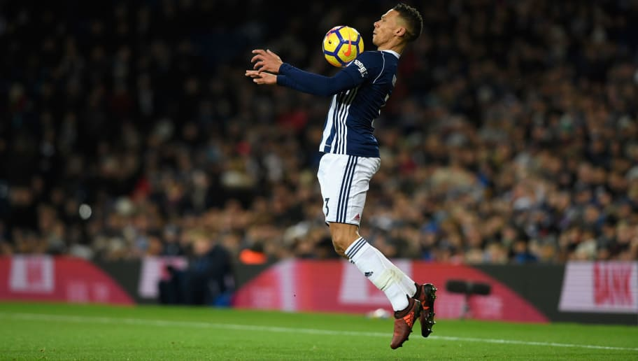 WEST BROMWICH, ENGLAND - NOVEMBER 28: WBA player Kieran Gibbs in action during the Premier League match between West Bromwich Albion and Newcastle United at The Hawthorns on November 28, 2017 in West Bromwich, England. (Photo by Stu Forster/Getty Images)