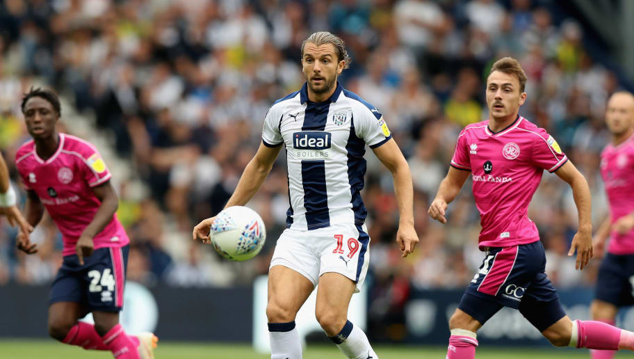 WEST BROMWICH, ENGLAND - AUGUST 18:  Jay Rodriguez of West Bromwich Albion runs with the ball during the Sky Bet Championship match between West Bromwich Albion and Queens Park Rangers at The Hawthorns on August 18, 2018 in West Bromwich, England.  (Photo by David Rogers/Getty Images)